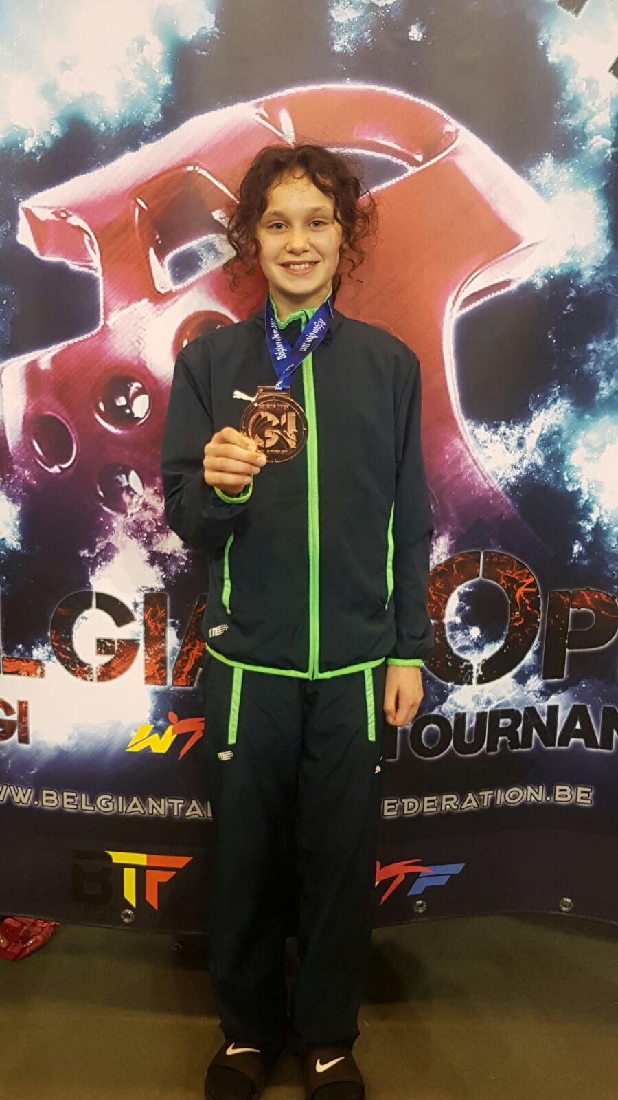Read more about the article Brons voor Nilla op Open Belgische taekwondo Kampioenschappen