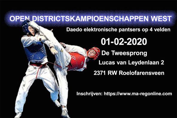 Open districtskampioenschappen West 1 februari 2020